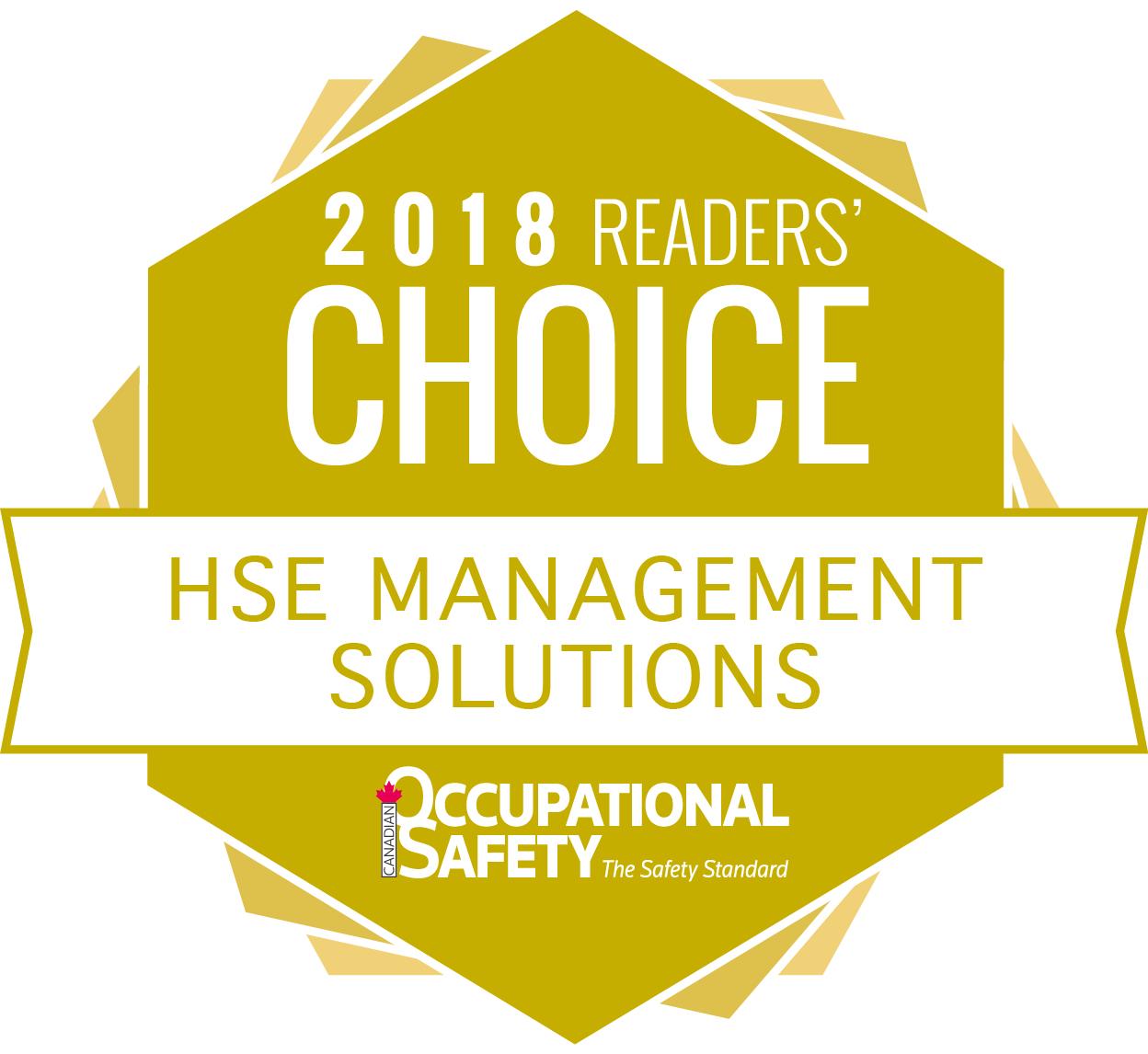 COS5825 18 readers choice seal HSE mana solu