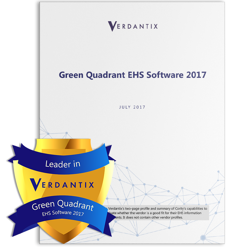 Green Quadrant EHS Software Report by Verdantix 2017
