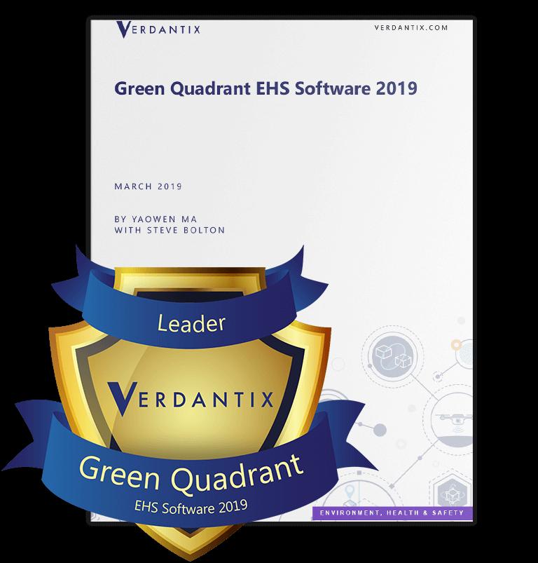 Verdantix green quadrant 2019 report with badge