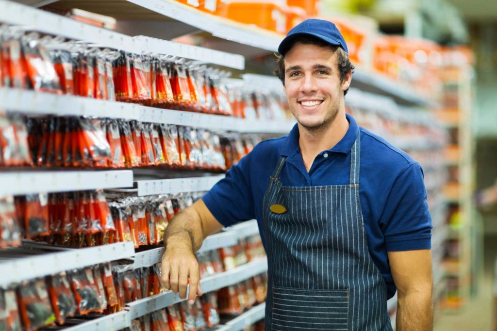 Retail compliance EHS team member at a local hardware store