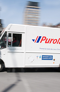 photo of a purolator truck